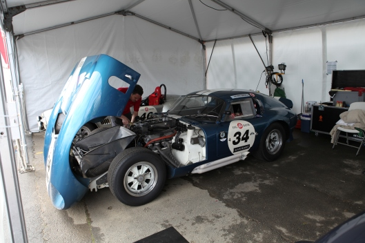 A Daytona Coupe showing its entrails