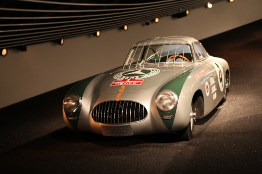 Karl Kling's 300SL Gullwing today at the Mercedes museum in Stuttgart