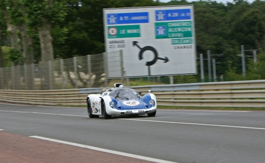 The Howmet TX full speed at the Mulsanne straight